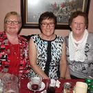 Eithne McCabe, Mary Dempsey and Susan Davis at the recent Senior Citizens party in Bob's Bar, The Ballagh