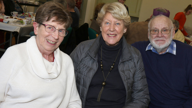 Ida Smith, Rita Reed and Archie Reed at the 'Post Christmas' Party in the Church Institute, Enniscorthy