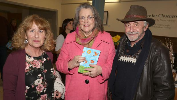 Noreen King-Urbin, Anne Martin-Walsh and Guy Urbin at the opening of 'A Desire for Closeness', an exhibition of work by Nicola Anthony, in The Presentation Centre