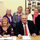 The St Columba's Old Folks Club committee. Front (from left): Anita Fyfe, treasurer; chairperson, Phyllis Dempsey, chairperson; Cllr Robbie Ireton, who chaired the meeeting; and Margaret Cooper, secretary. Back: Katie Kelly, Marie Deegan, Mary Sheil, Anne McGreal, Shelly Kenny, Karen Kenny, Mags Kenny and Eileen Kavanagh.