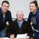 John Kavanagh, Ray Lacey and Michelle O'Shea at the Gorey Red Cross AGM.