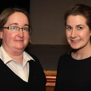 Pictured at the Wexford senior Scór finals in Oulart Community Centre were Aine Kennedy (chairperson) and Karen Mernagh (secretary)