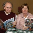Jack Jacques-Ghijsen and Joan Whelan at the launch of the Oylegate Glenbrien Journal 2017-2018 in Oylegate Community Centre