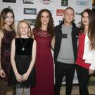 Agne Milkyte, Katie Cloke, Donna Cloke, Bobby Sludds and Susan Shalloe at the premiere of the short film 'Slab' in The Presentation Centre