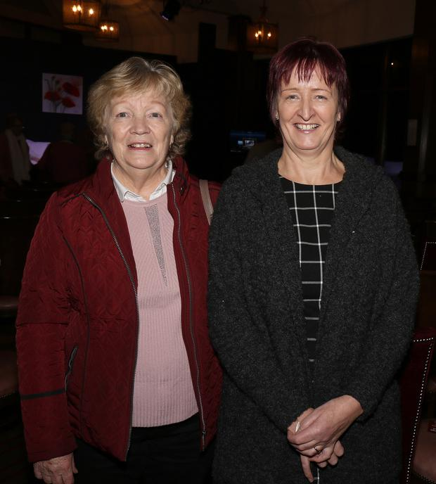 Joan Lambert and Pauline Doyle at the performance of 'Women on the Verge of HRT' staged by Bunclody/Kilmyshall Drama Group in Bunclody Golf Club