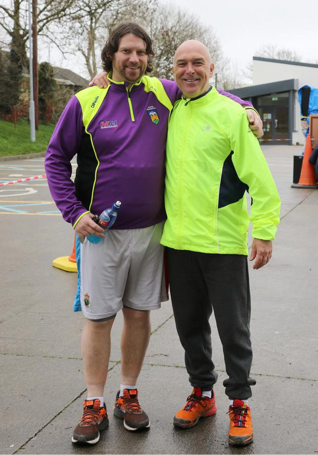 Andy Staff and Paul Wise who took part in the Bree Youth Club Winter Fun Run/Walk in Bree village