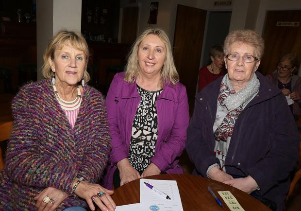 Phil O'Neill, Trish Doyle and Liz Murphy representing Enniscorthy ICA Guild at the ICA table quiz county final in Cooney's Lounge, Oulart