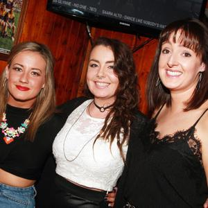 Sine O'Neill, Nadia Dempsey and Lorraine O'Connor at the Joan and Friends charity night in the Oulart Hill in aid of the cardiac unit in Wexford General Hospital