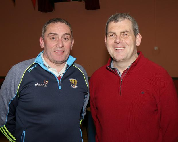 Brendan Pettitt and Martin Redmond at the Oulart-The Ballagh GAA Mayoral Campaign fundraiser in Oulart Community Centre