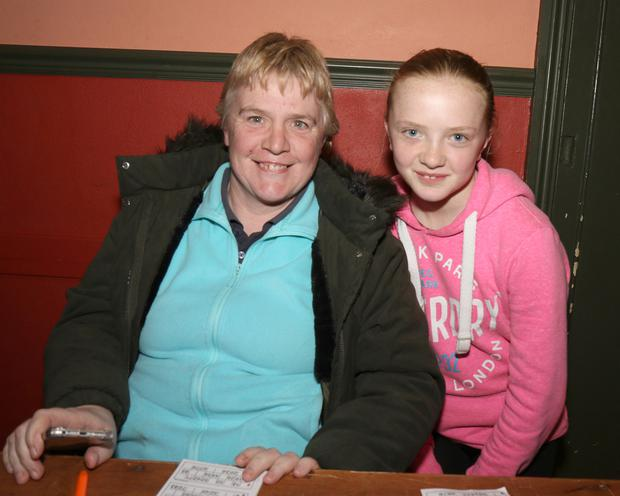 Martina and Olivia Dempsey enjoying their night at the charity bingo in aid of the Irish Pilgrimage Trust in Oulart Community Centre