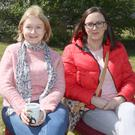Mary Sweeney and Susan Dunne at 'The Big Hello' community event in Clohamon old school on Saturday