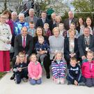 Minister Paul Kehoe who performed the official opening of Bree Town and Village Renewal Scheme pictured with local children at the opening of the playground
