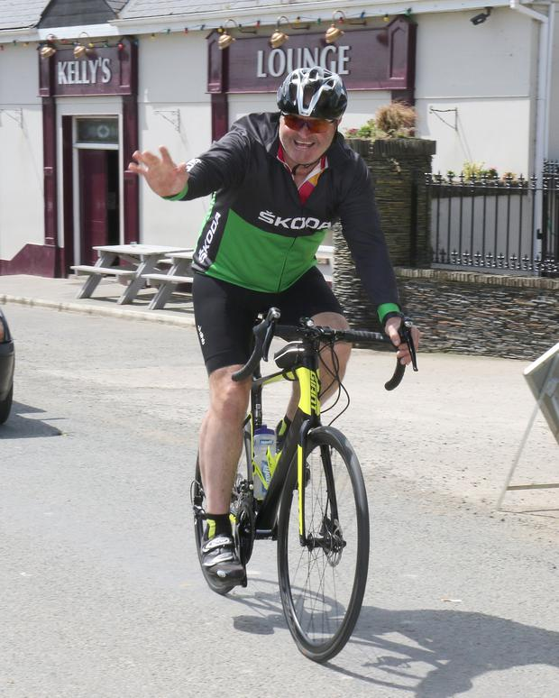 John Carton taking part in charity cycle in The Harrow in aid of Crumlin's Children's Hospital