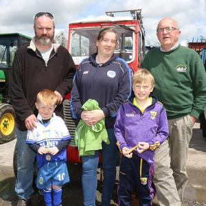John and Jack Dempsey, Roisin Murphy, Darragh Gethings and Paddy Fortune enjoying their day out at the Caim Tractor Run