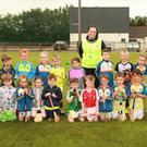Boys and girls who took part in the recent Kellogg's Cúl Camp at Ferns St Aidan's GAA grounds, pictured with their coach Kathleen O'Connor