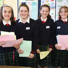 Elizabeth Rafferty, Katelyn Larkin, Jessica Leacy and Leah Connor at the Coláiste Bríde open evening