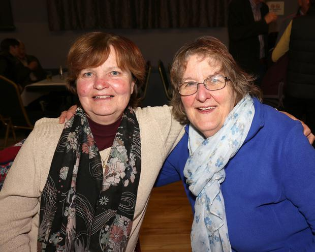 Jacqueline McCann and Georgina Power at the table quiz hosted by Hillbrook Lawn Tennis Club in the IFA Centre