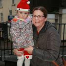 Gemma Malone with her daughter Sarah at the switching on of the Christmas lights in Enniscorthy