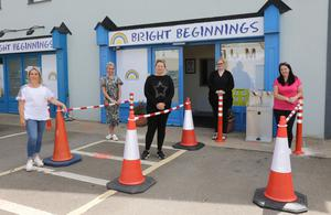 From left: Camila Gulliver, Carol Hilery, Laura Farrell, Paula Dempsey and Christine Howlin at Bright Beginnings creche in Oylegate