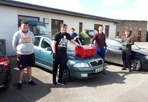 Enniscorthy Rugby Club members who made deliveries for Enniscorthy Meals on Wheels during the lockdown: Gavin Redmond, Andrew Redmond, Tony White, Jim White and Tom Tyan