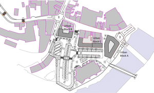 The proposed urban development blocks for Templeshannon