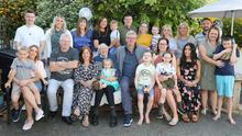 Bill O'Reilly, Ballyboy, The Ballagh, with his family at his 80th birthday party