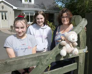 Roisin, Grace and Linzi Flanagan, organisers of the bear hunt.