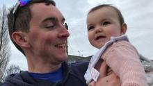 Dr Rory Nolan with his daughter, Francesca.