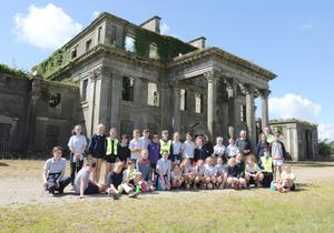 Courtnacuddy National School children on a visit to Castleboro Manor with principal Colm Gallagher and owner Jim Kehoe