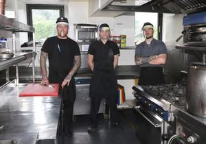 The Bailey's chefs Jack Dempsey, James Hayes and Nick Murphy preparing to reopen