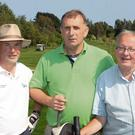 Courtown RNLI golf day at, Courtown Golf Club; John Kinsella, Martin Conroy and Noel Carter.