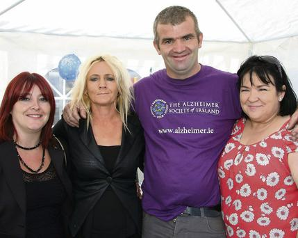 Catherine Kavanagh, Mary Skelton, John Foley and Mary Breen and (RIGHT) James Breen and Brandon Kavanagh at the fundraiser.