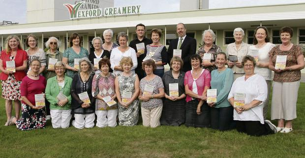The launch of the Wexford Cheddar Recipe Collection at Wexford Creamery with Wexford ICA Federation members and Niall Murphy and Frank Ronan of Wexford Creamery.