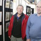 Lalo Malone and Tommy Dwyer at the opening of the Men's Shed art exhibition in New Ross library last week.