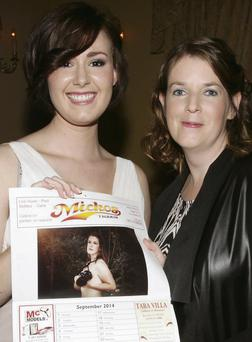 Aoife Rose O'Brien and photographer Lisa McLoughlin, who features in the calendar for September, at the launch of the 'Our World' calendar.