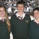 The Gorey Community School Gael Linn team of Ailbhe Ni Cholmain, (captain), Michael O Scannail and Aine Ni Dhuinn.