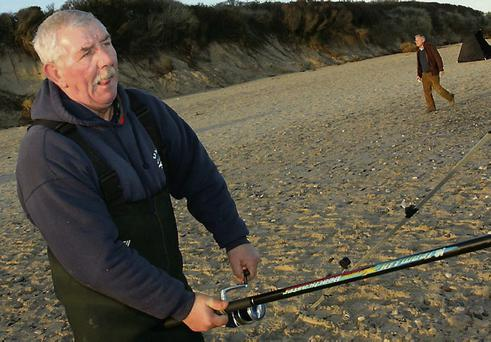 Shore angling competion at, Kilgorman beach in support of, RNLI, Pader Taite, Ballybrack.