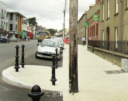 Parking spaces on the Avenue.