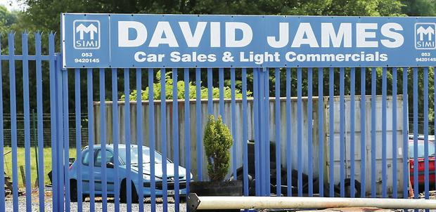 David James's premises on Arklow Road, Gorey.