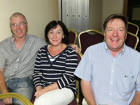 At the Amber Spings Hotel for the public meeting on rates were John and Rita O'Brien with Sean Halford