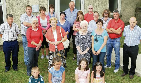 Concerned Camolin residents outside the health centre, which is due to close later this year.