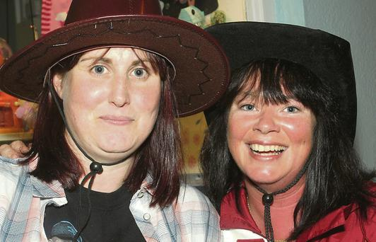 Amy Doyle and Thelma Willoughby at the Garth Brooks tribute gig.