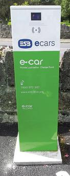 Charge point for e-car