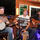 The 20th Blackstairs Blues Festival, pictured in, Rackards, the Preacher Casey, Kevin Daly with, Jonny and Simon Smith