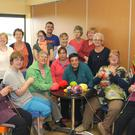 Community knitting group taking part in Innocent Smoothie 'Knit a Hat' campaign in support of, Age Action Ireland at Astro Active Centre