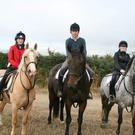At the Charity Ride in Ballindaggan last Sunday were Deirdre Kehoe, Stephan O'Connor and Helena Kehoe