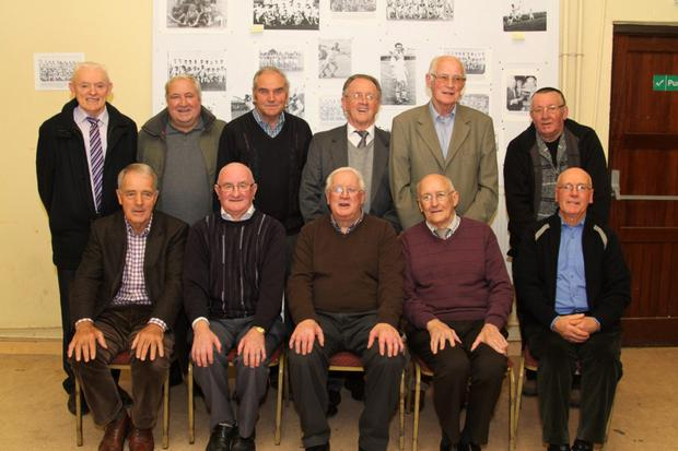 The 1964 county Senior hurling championship winners. Front, from left: Matt Browne, Paddy Shiggins, capt. Larry Byrne, Bill Murphy and Pat Sinnott. Back, from left: Kevin Doyle, Sean Murphy, Padraig O Suilleabhain, Paddy Wildes, Marks Redmond and Tom Furlong