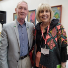 Maria Nolan with the Mayor of St John's in Newfoundland, Des O'Keeffe
