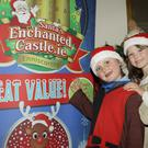 Ellie Jamies Furlong and Lilly Whyte Weaver at the recent launch of Santa's Enchanted Castle at Enniscorthy Castle