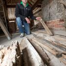 Paul Sinnott inside the historic property he purchased, now confirmed as the oldest house in Dublin